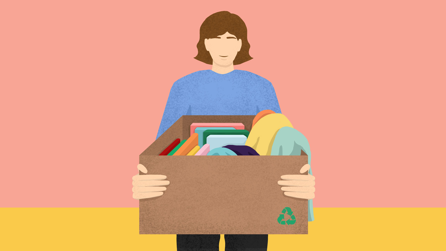 Zero waste disposal options - person donating items