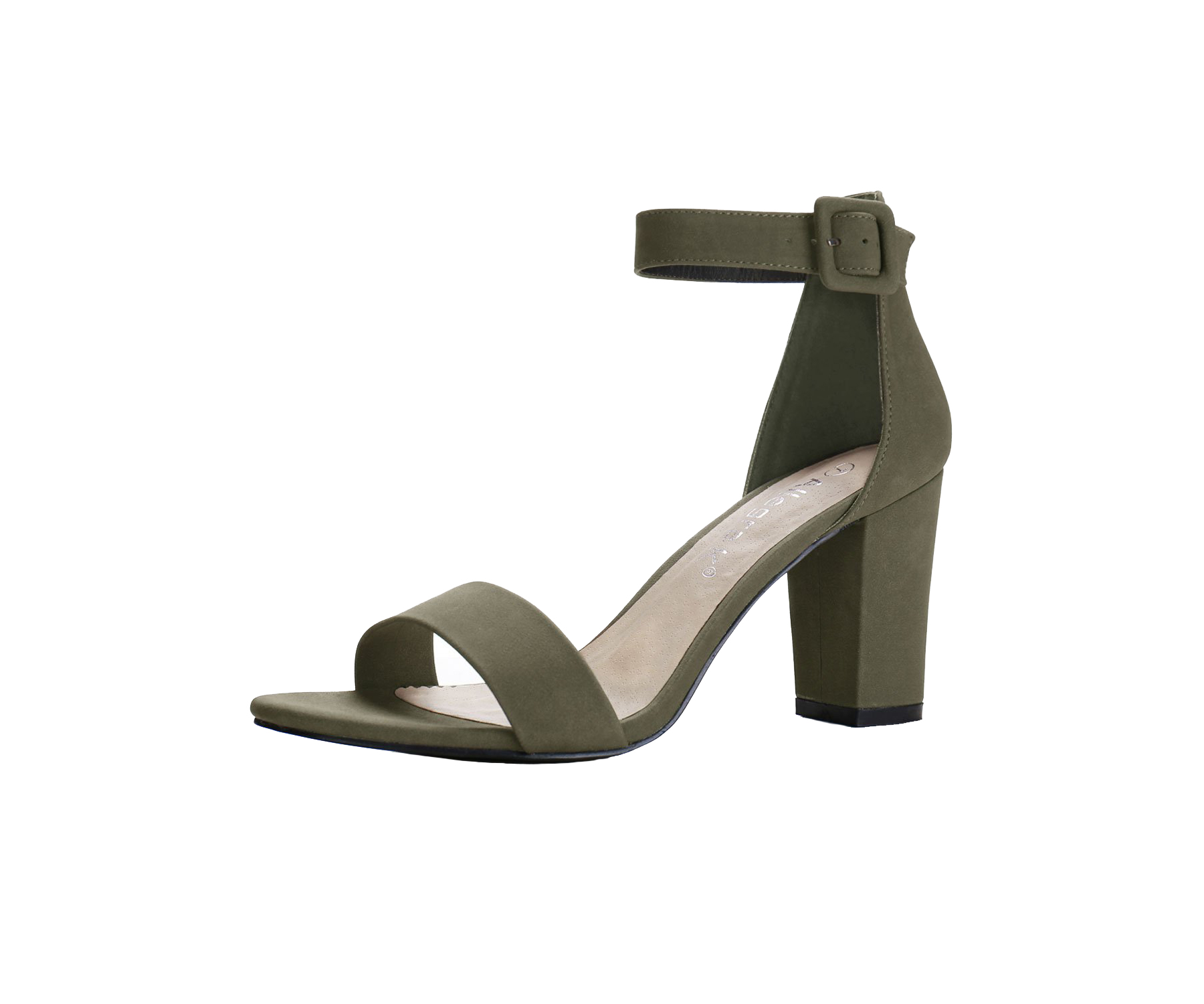 Allegra K High Chunky Heel Ankle Strap Sandals on Amazon