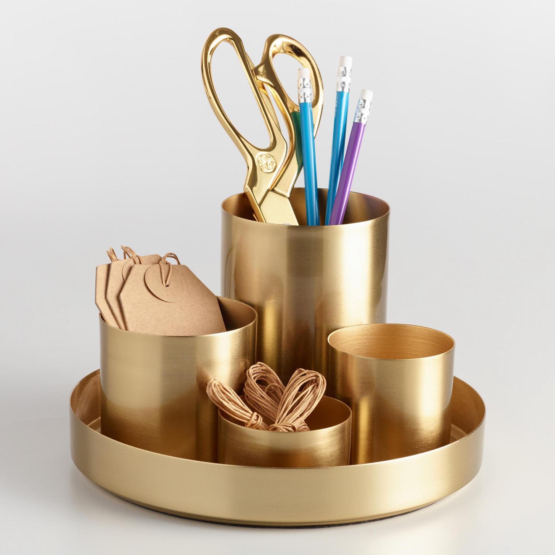 Best Desk Organizers, Gold cups