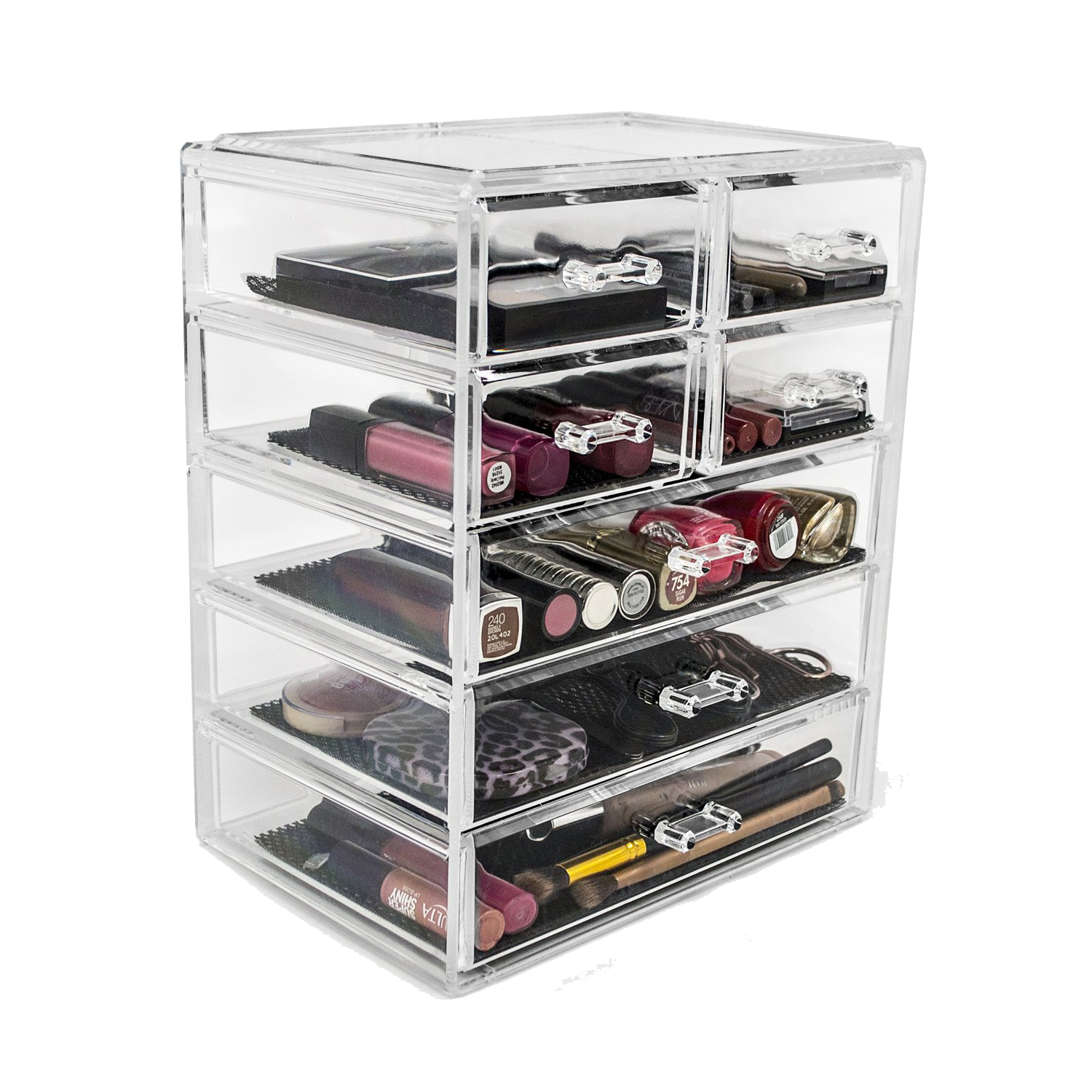 Sorbus Clear Makeup and Jewelry Storage Case