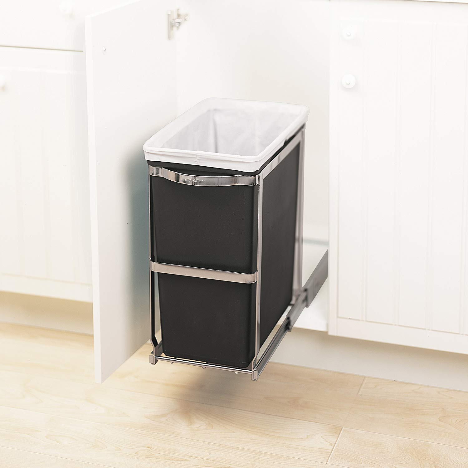 Kitchen Organization DIYs, Pull-Out Garbage Can