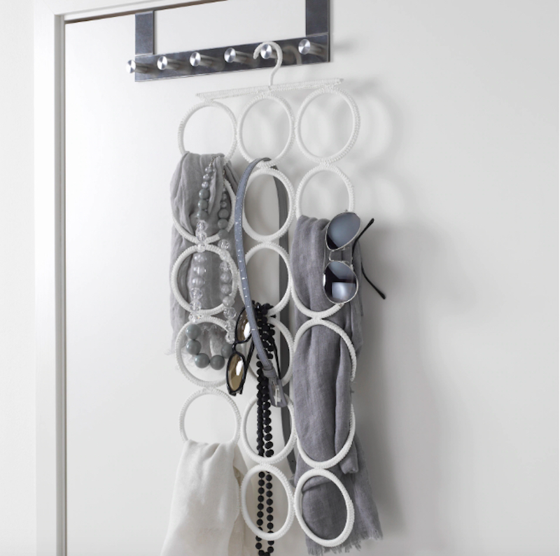 A Space-Saving Hanger for Scarves, Belts, and More