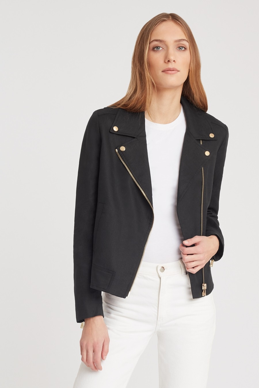 Wear-Everywhere Linen Moto Jacket