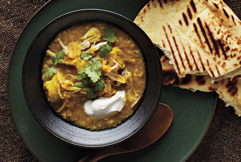 Curried Lentils With Chicken and Potatoes