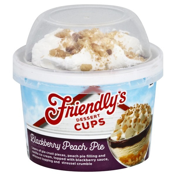 Friendly's Blackberry Peach Pie Dessert Cups