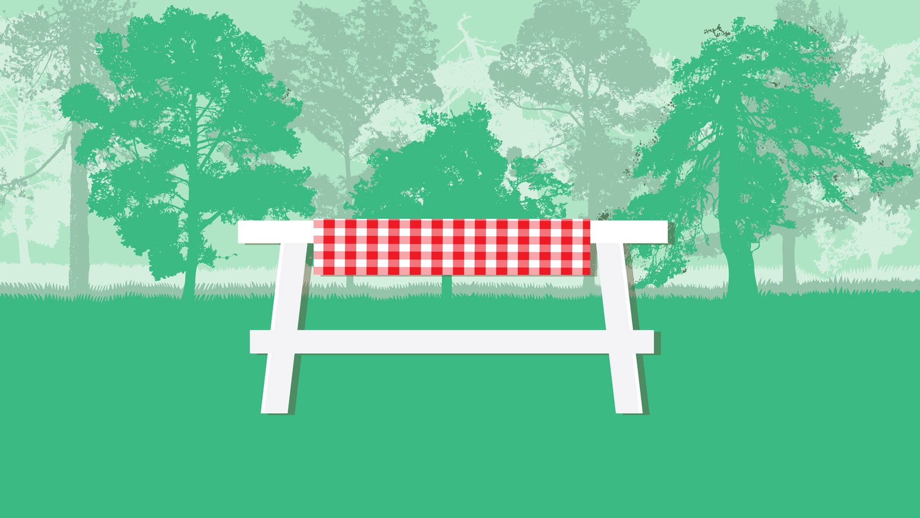 Outdoor Dining Table Accessories - illustration of outdoor dining table