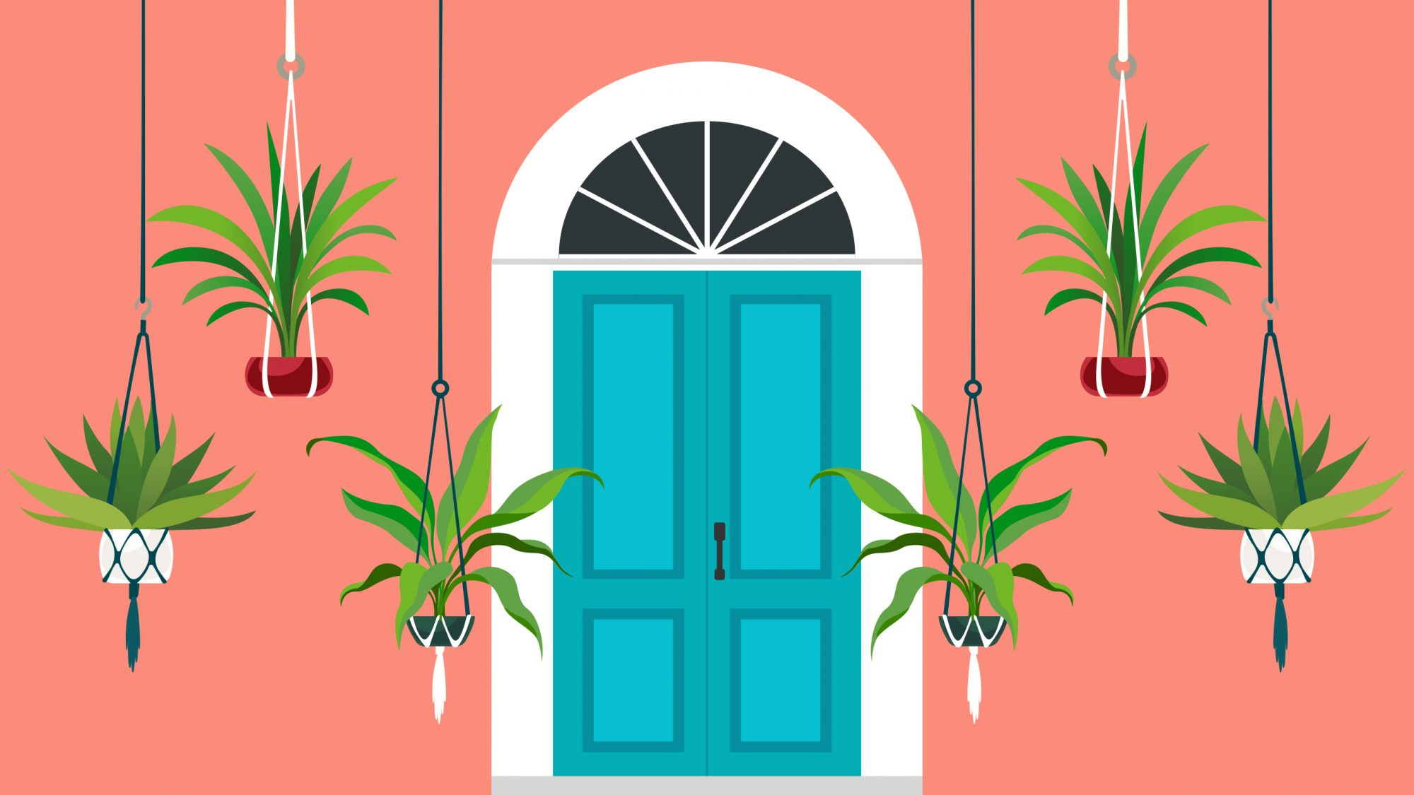 How to Spruce Up Your Front Door to Boost Curb Appeal, door with plants