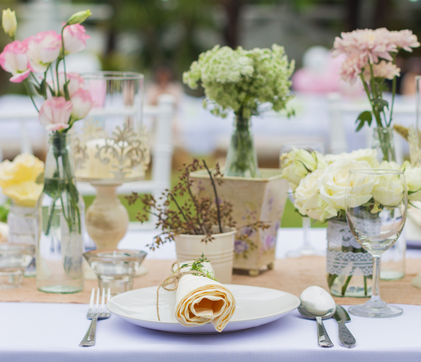 Table Setting at Garden Party