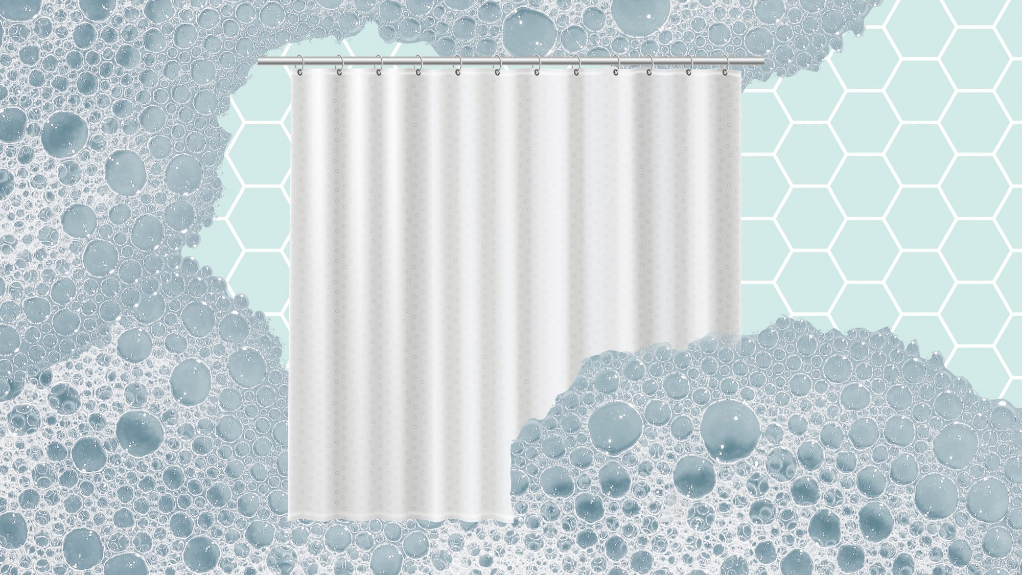 How to Clean a Shower Curtain Liner by Hand