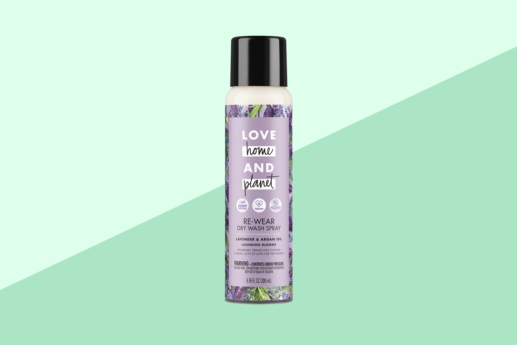 Love Home and Planet Re-Wear Clothing Dry Wash Spray