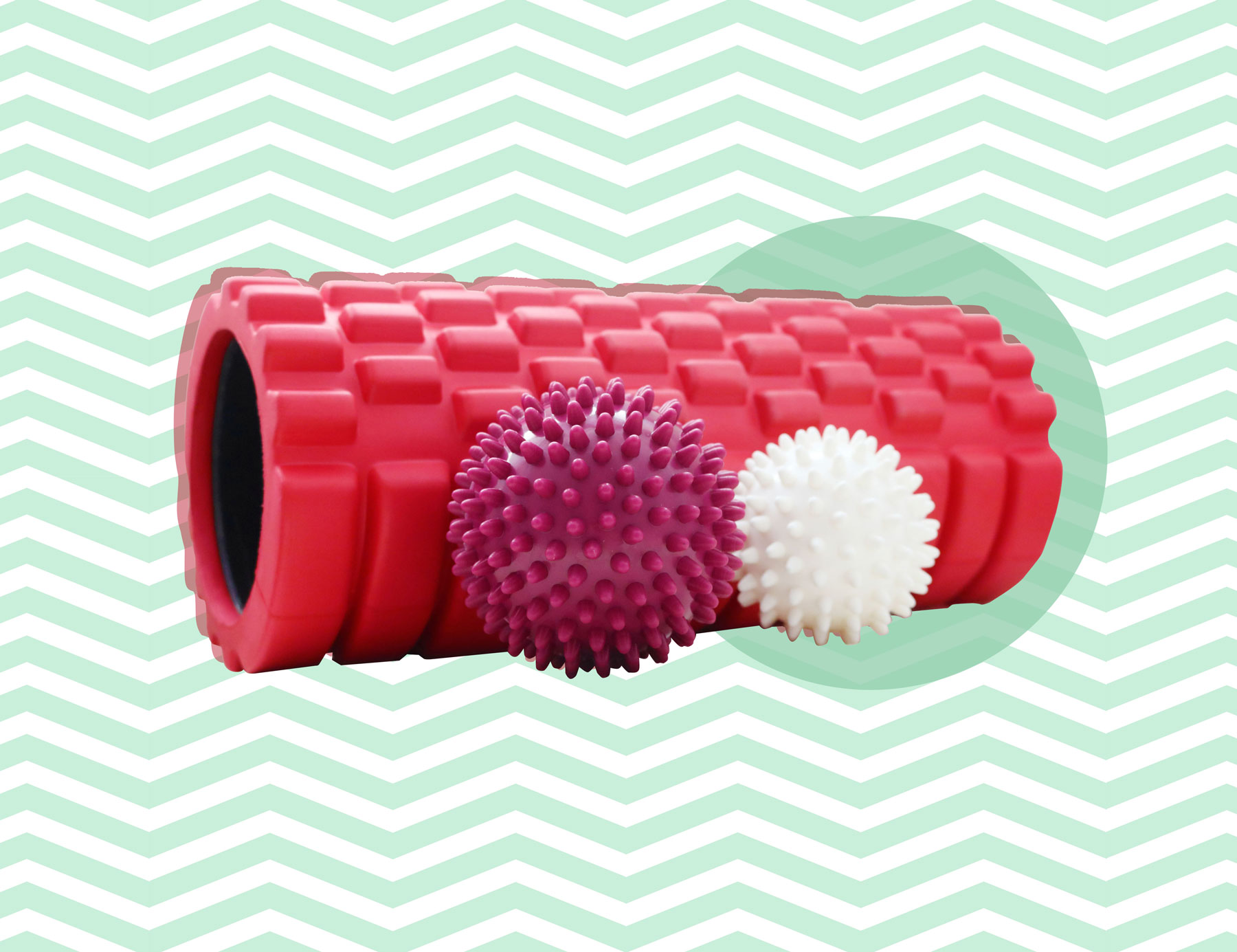 Relaxing exercises for a home massage - foam roller exercises and small ball rolling exercises