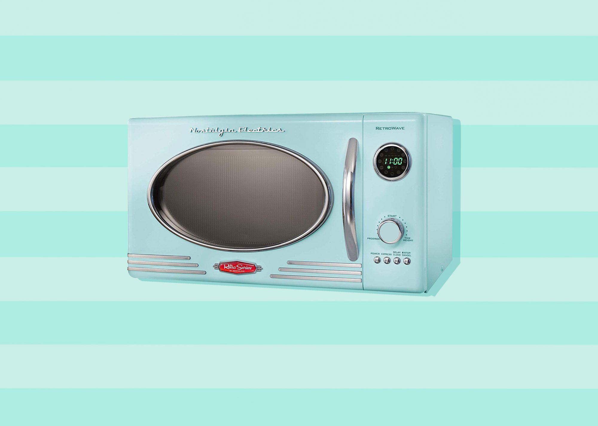 Stylish Microwaves and Toaster Ovens, mint green retro microwave from Nostalgia