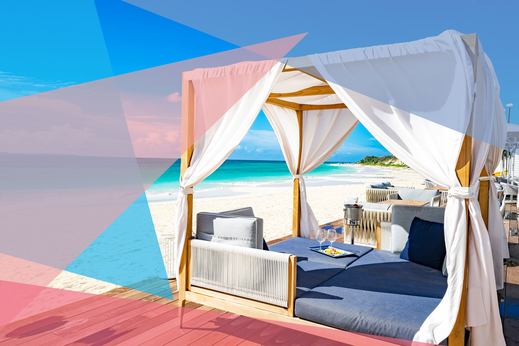 Luxury resort look - daybed/chaise at CuisinArt Resort