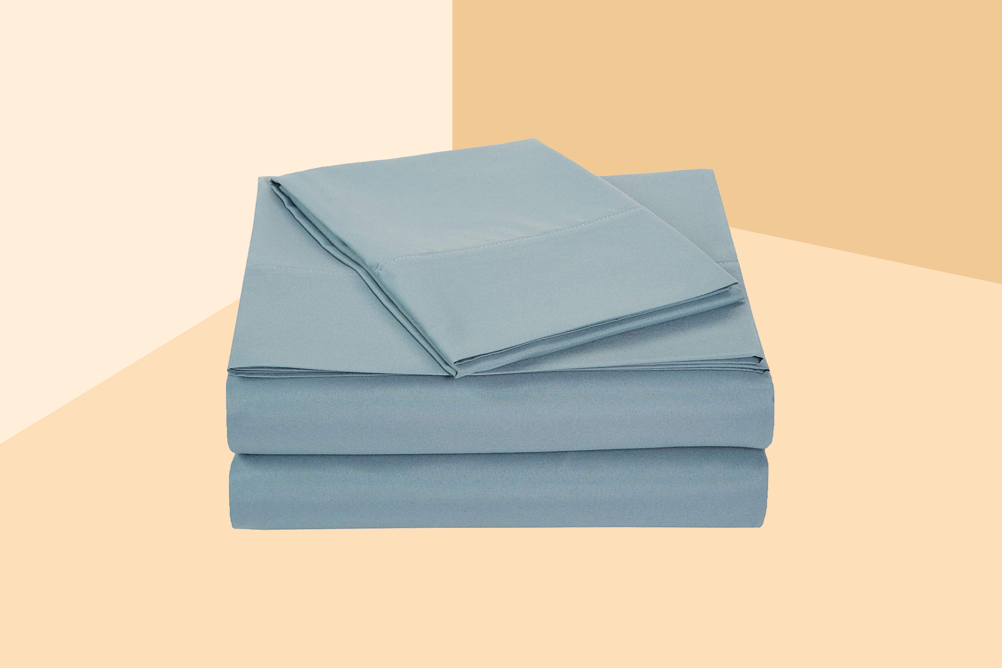 AmazonBasics Microfiber Spa Blue Sheet Set