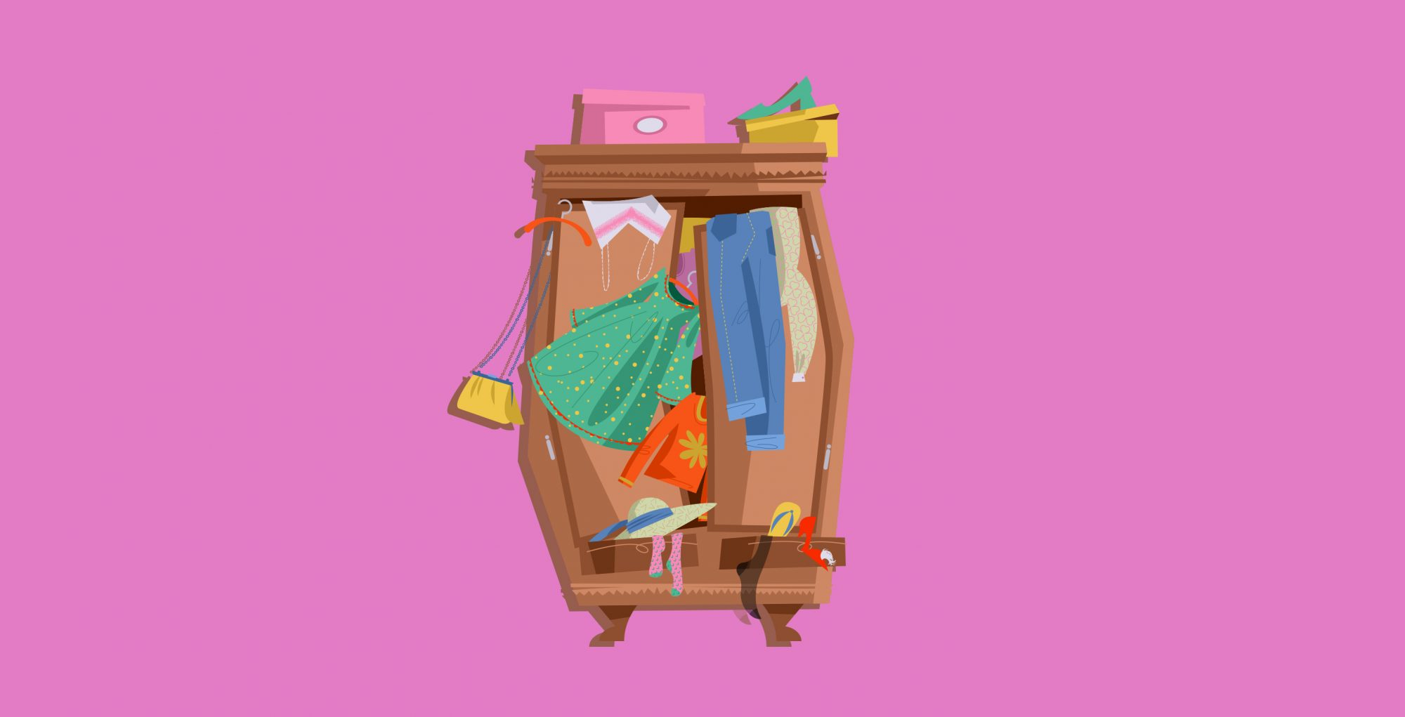 How to Organize a Small Closet, cluttered closet