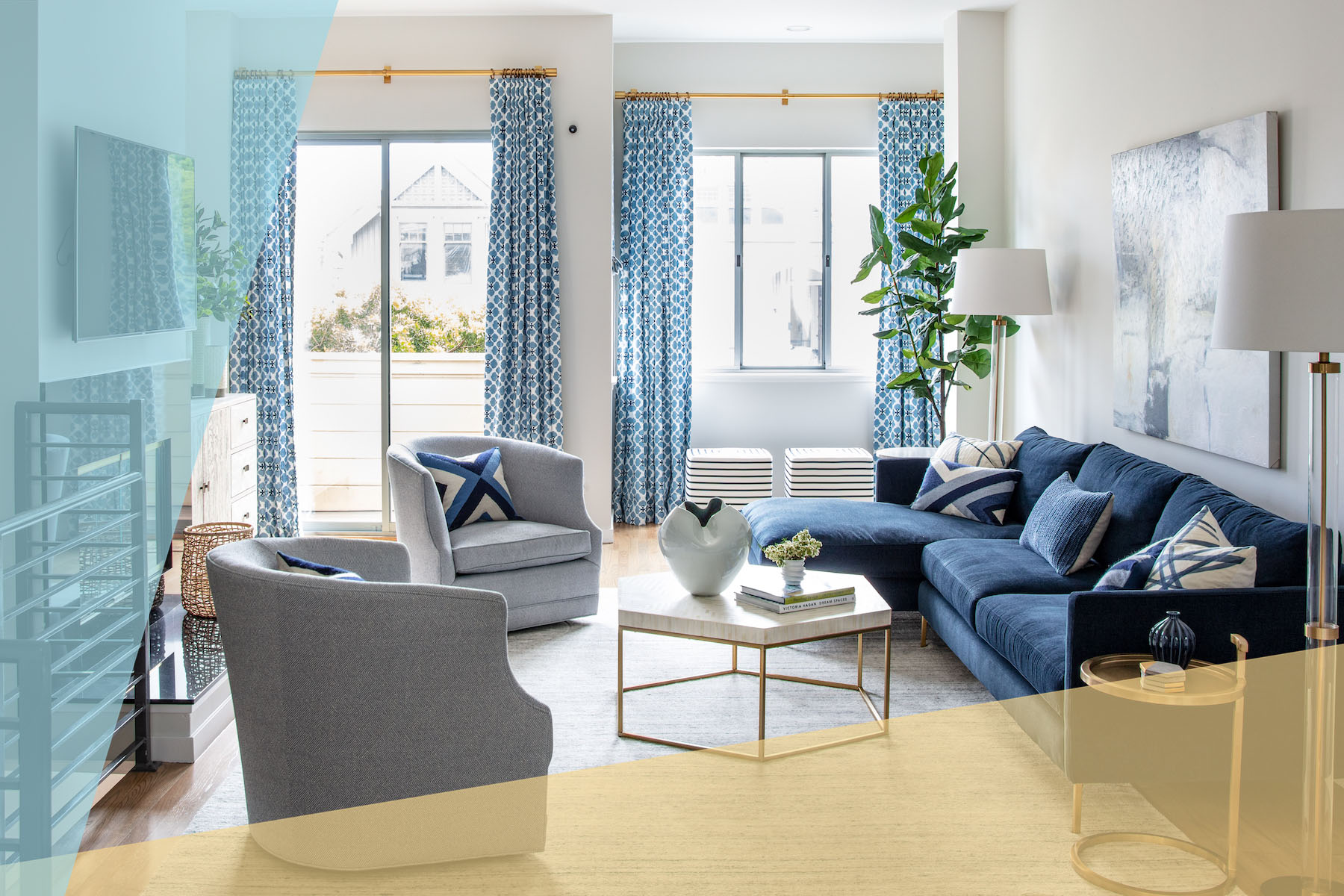 Home Makeover with Patterns, Living Room