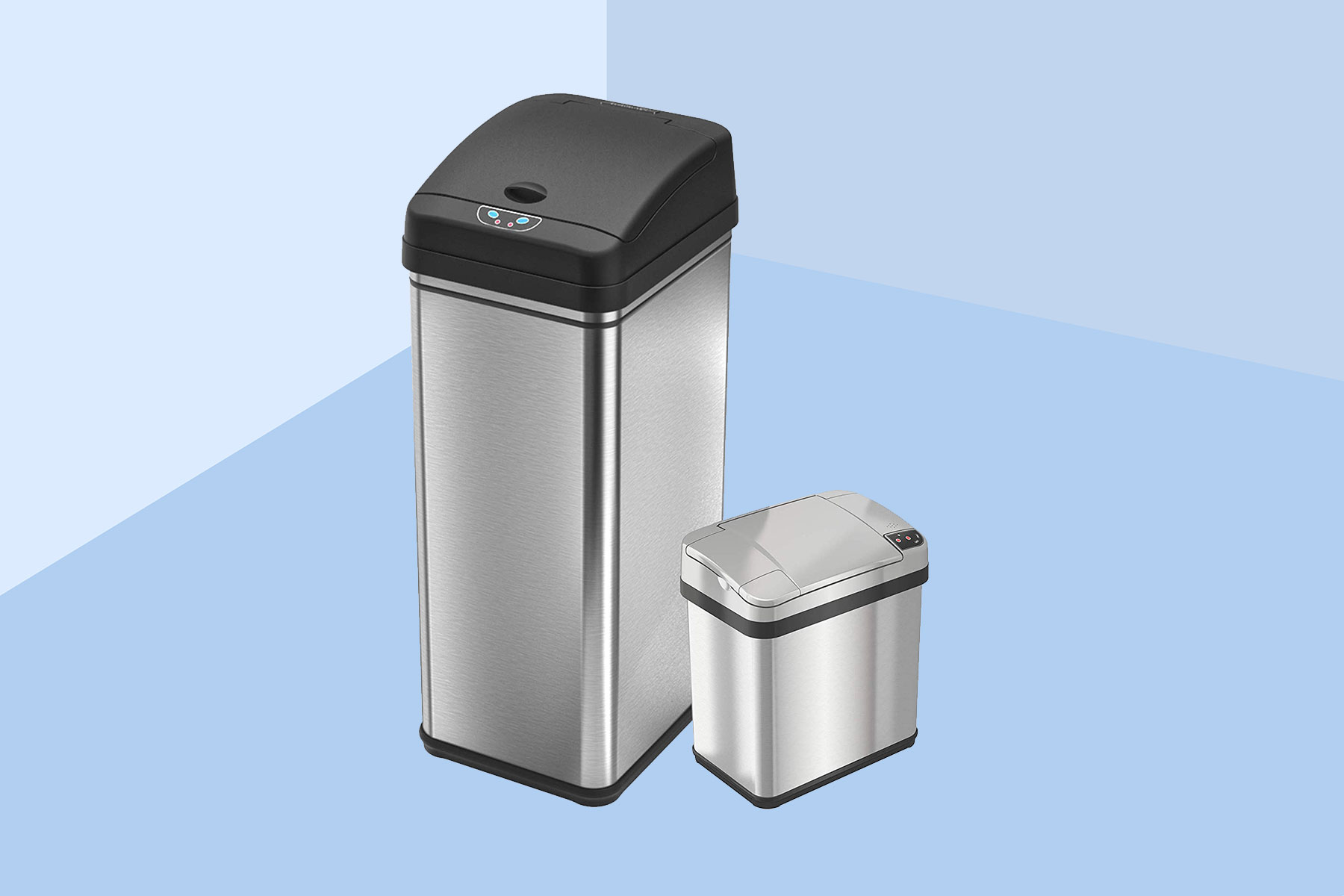 iTouchless 13 Gallon and 2.5 Gallon Sensor Trash Cans