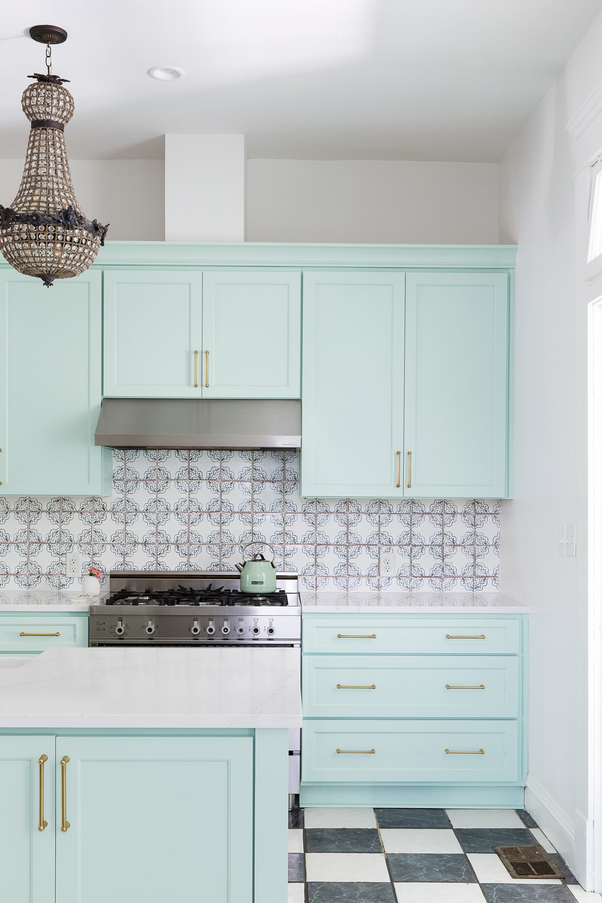 Mint Green Is The Unexpected Kitchen Cabinet Color Your Small Kitchen Needs Real Simple