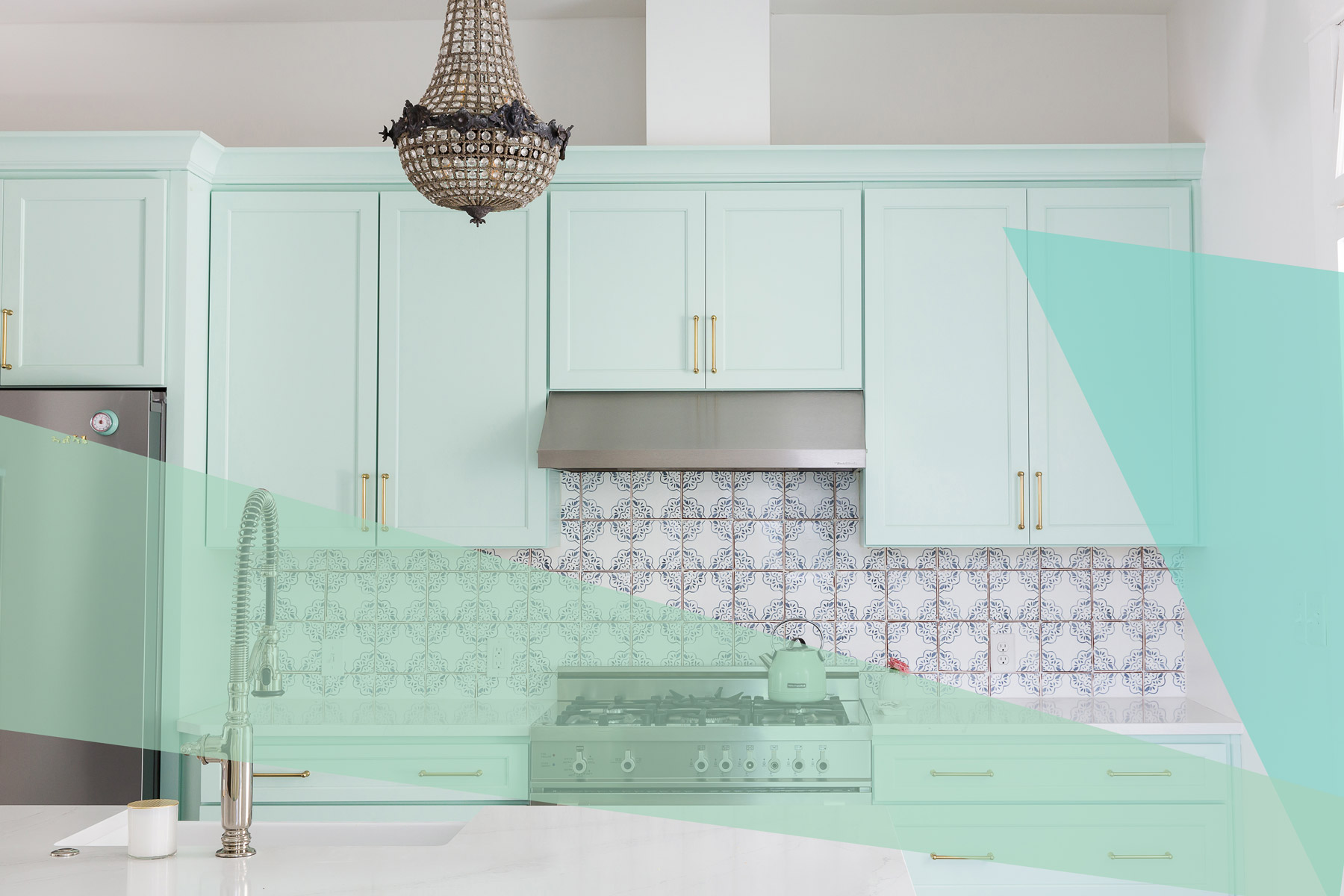 Kitchen cabinet paint colors - mint green paint cabinets by Maureen Stevens