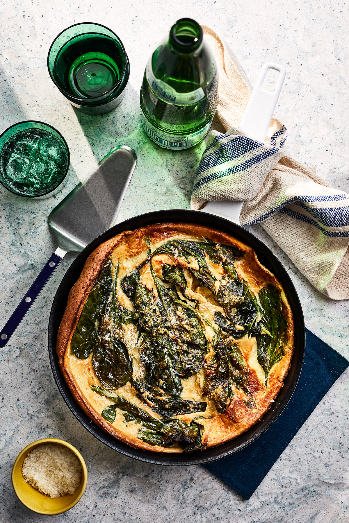 Spinach and Parmesan Dutch Baby