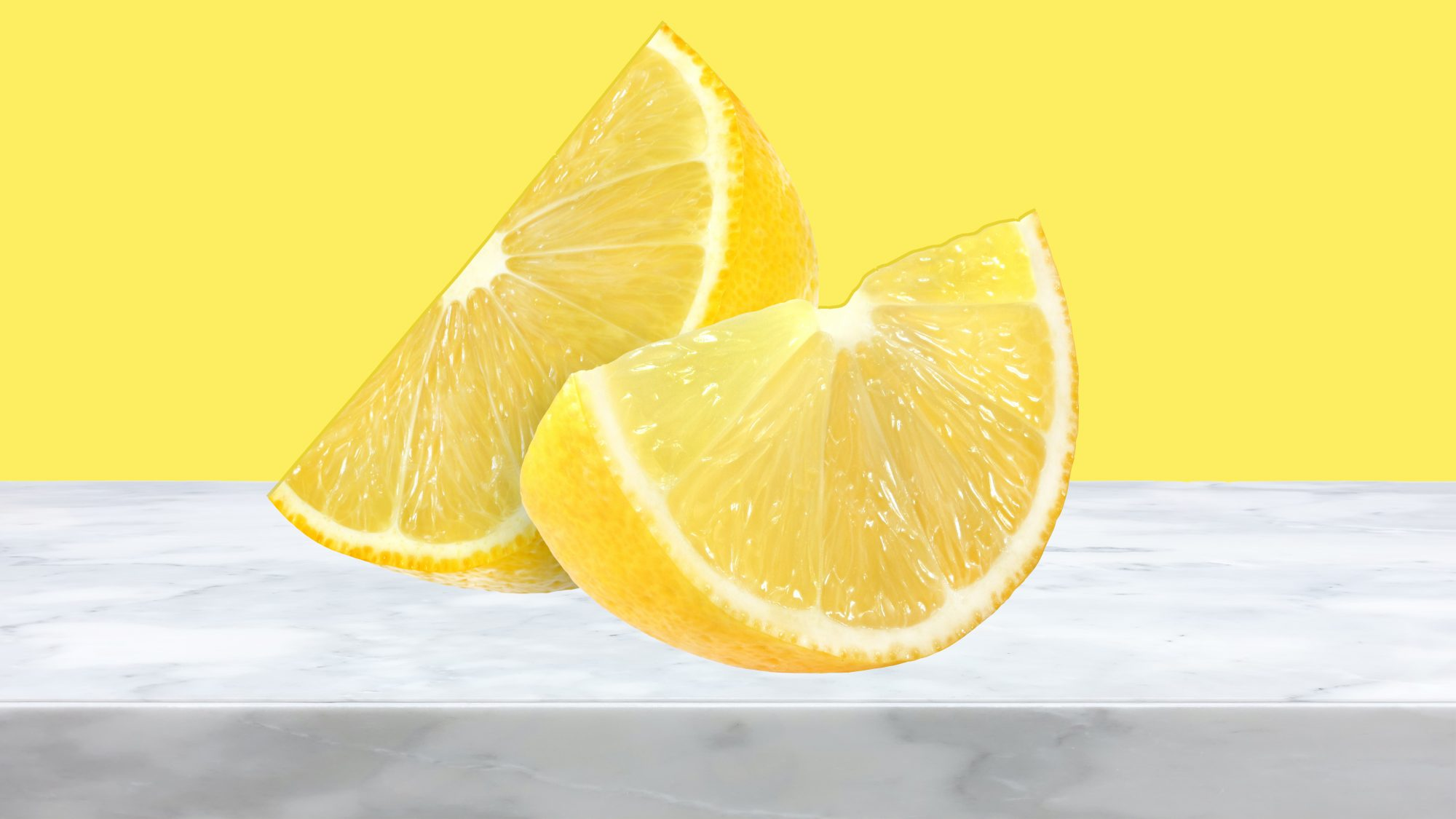 5 Ways Your Cleaning Efforts Are Backfiring, lemon on marble
