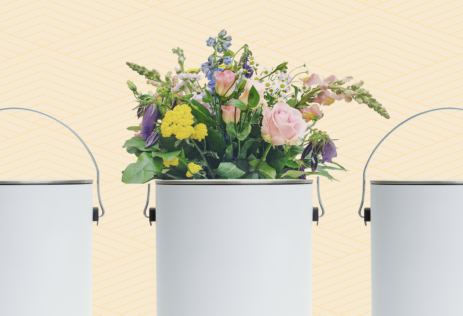 Flower-Inspired Paint Colors - flowers in paint can