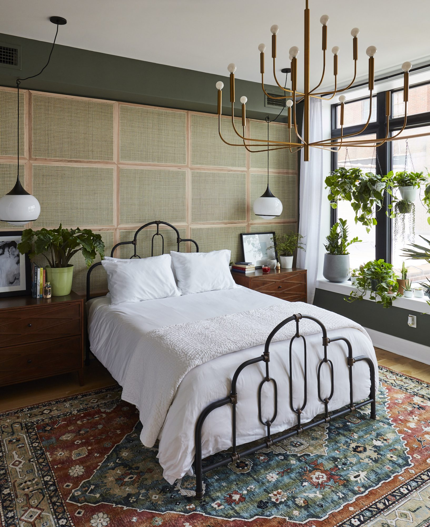 Real Simple Home Bedroom with plants