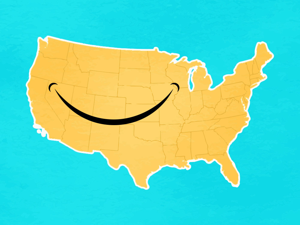 Happiest States in the U.S. - WalletHub 2019 Ranking