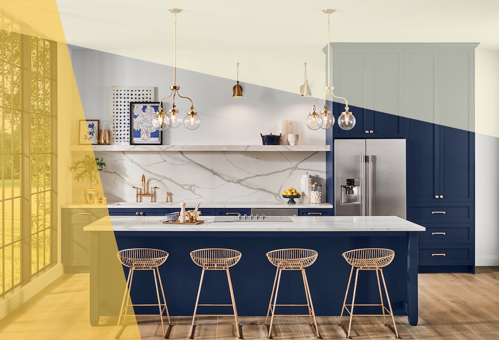 Sherwin-Williams color of the year 2020 - naval cabinet paint