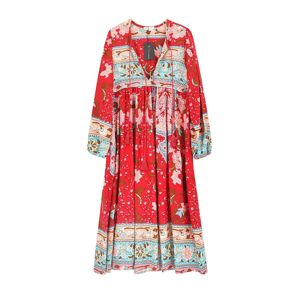 R.Vivimos Women Summer Cotton Floral Dress
