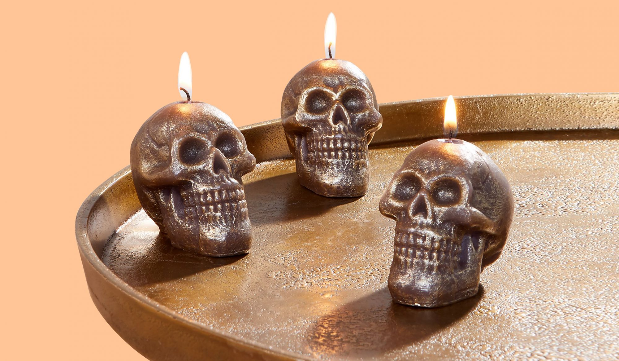 Halloween Party Decorations, Glitter Skull Candles