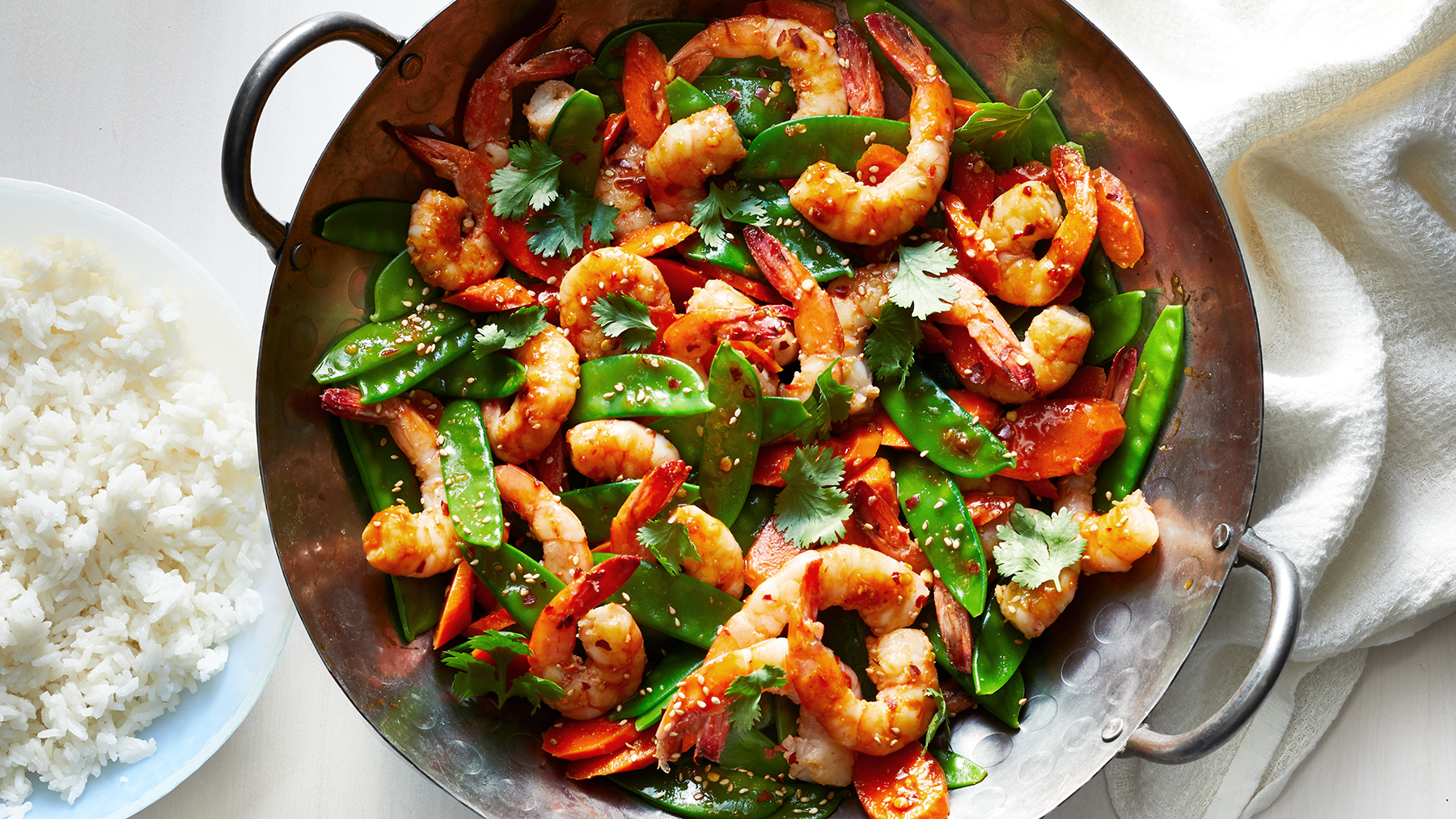 Spicy Sambal Shrimp Stir-Fry