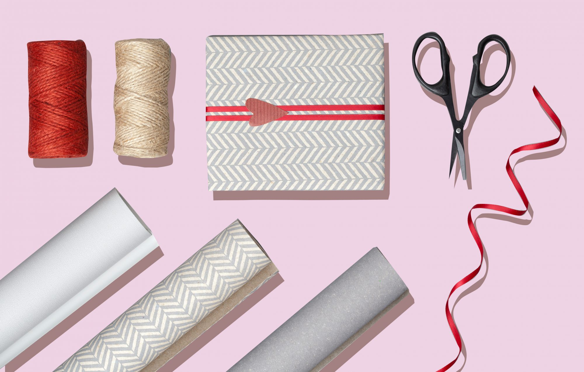Christmas gift wrap supplies