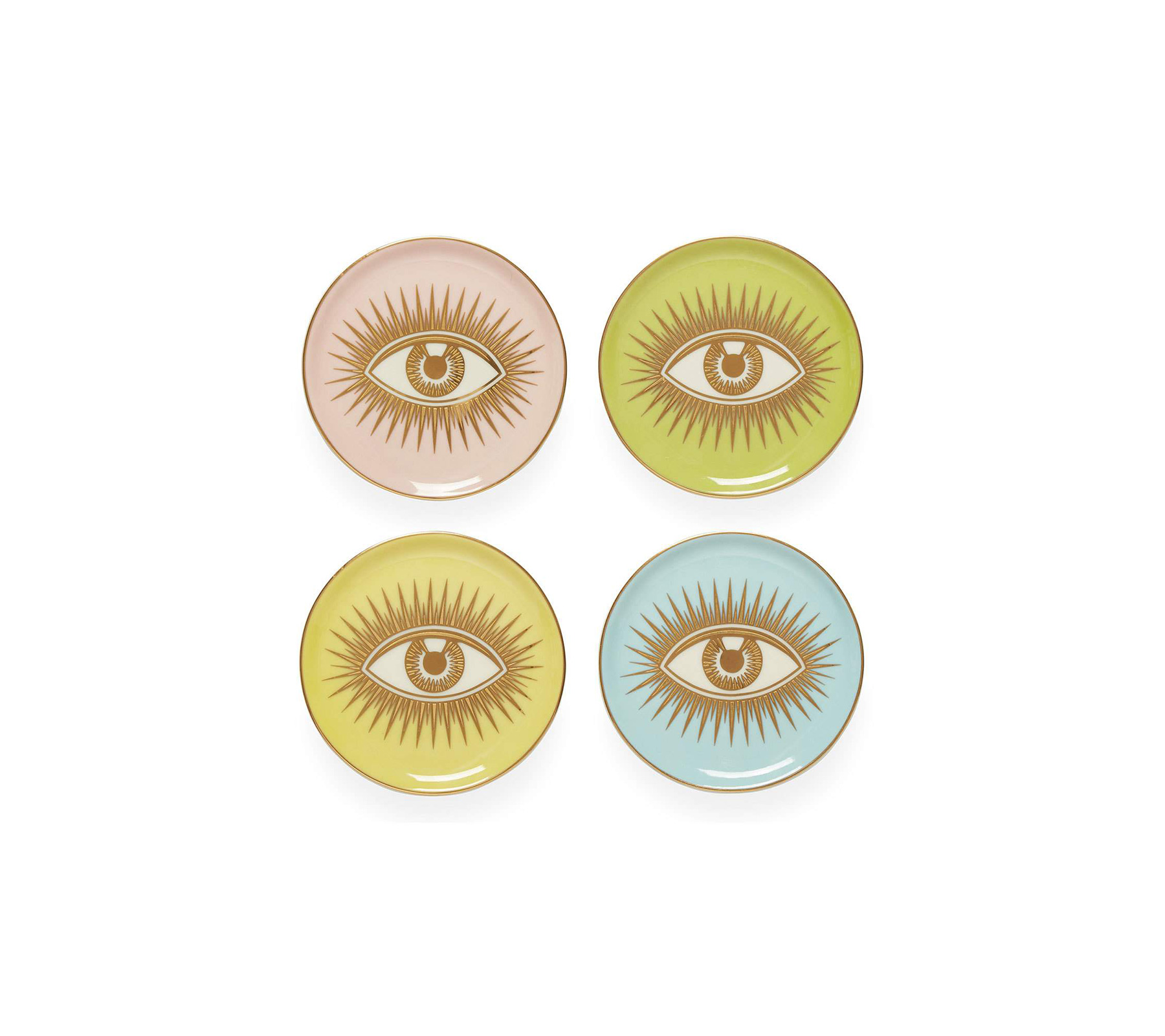 Best Hostess Gifts: Jonathan Adler Eyes Coaster Set From Neiman Marcus