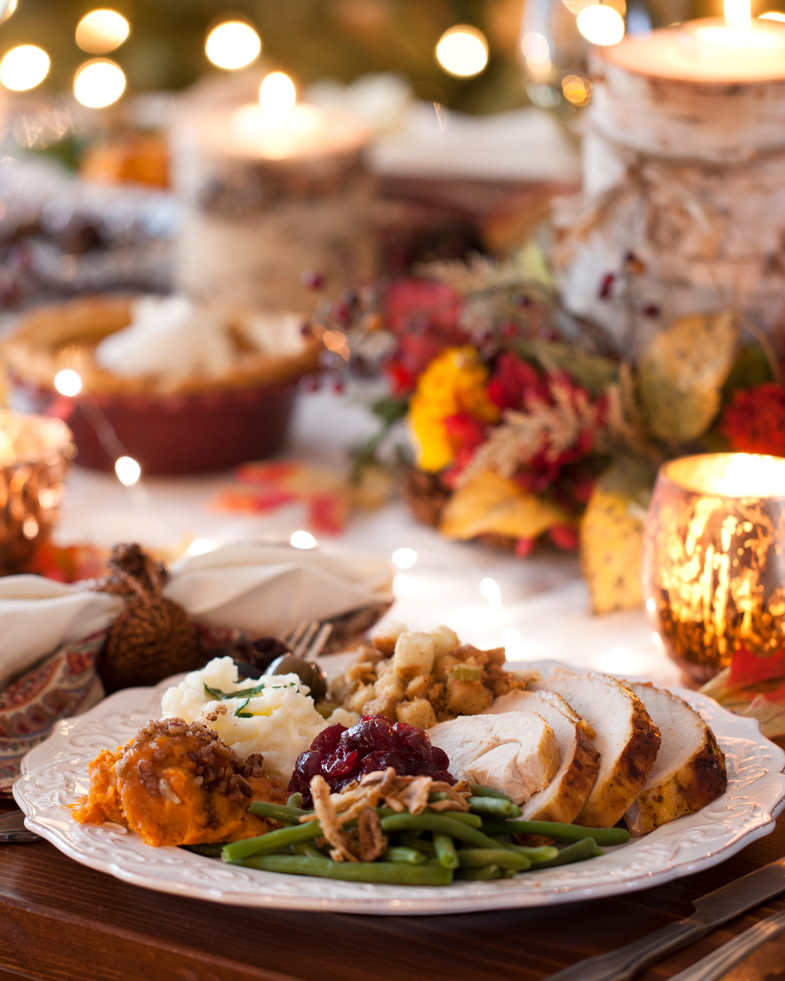 Thanksgiving Meal at the Table