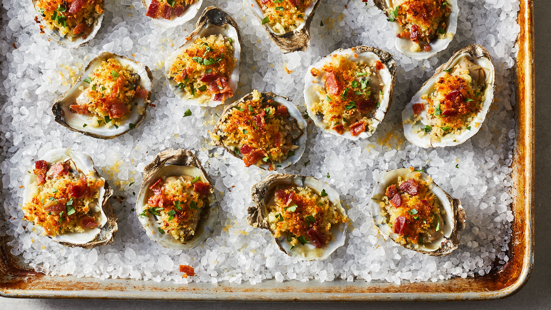 Crispy Broiled Oysters With Bacon