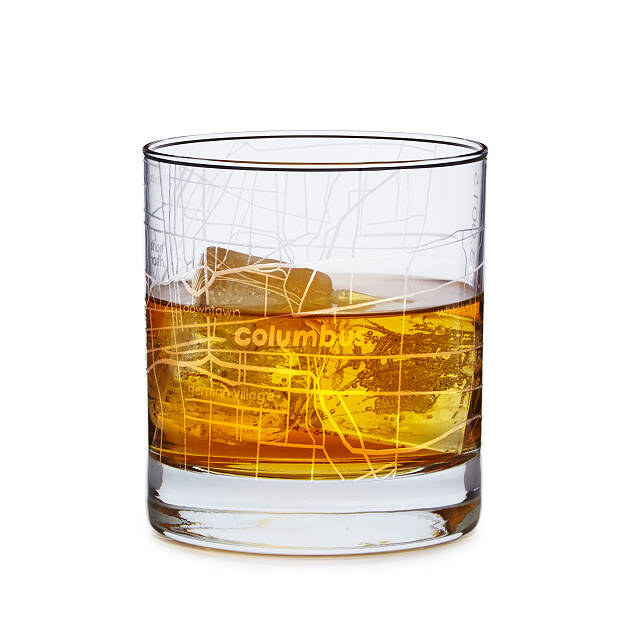 Cheap Christmas Gifts: Uncommon Goods city map cocktail glasses