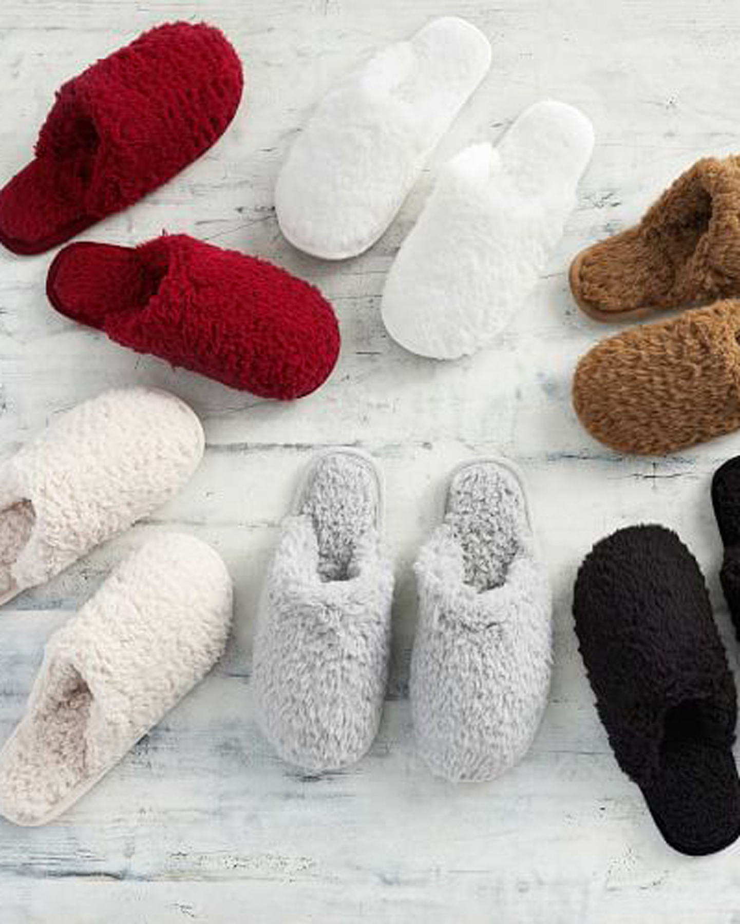 Cheap Christmas Gifts: Teddy Bear faux fur slippers from Pottery Barn