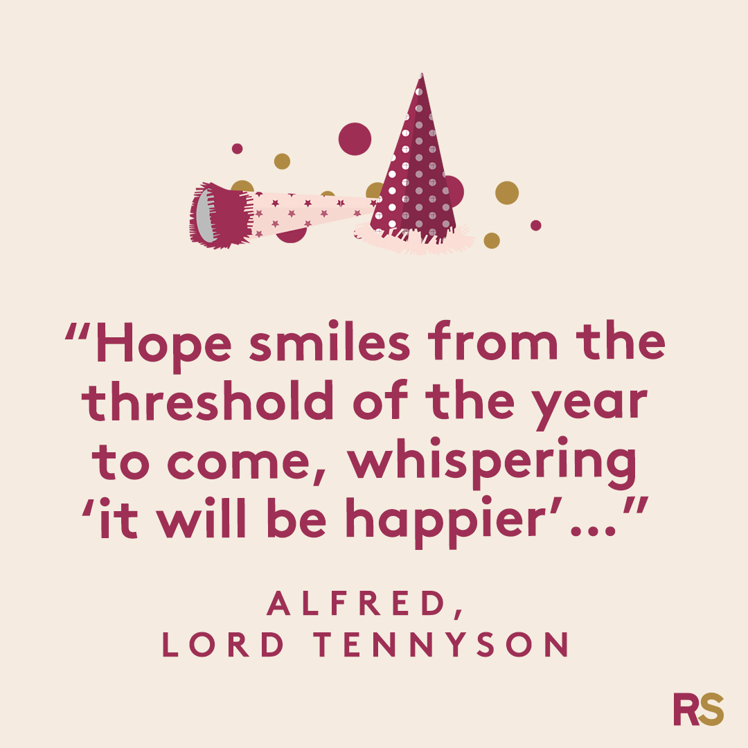 New Year's Quotes: 2020 inspirational, funny, happy New Year's Eve quotes - Alfred, Lord Tennyson