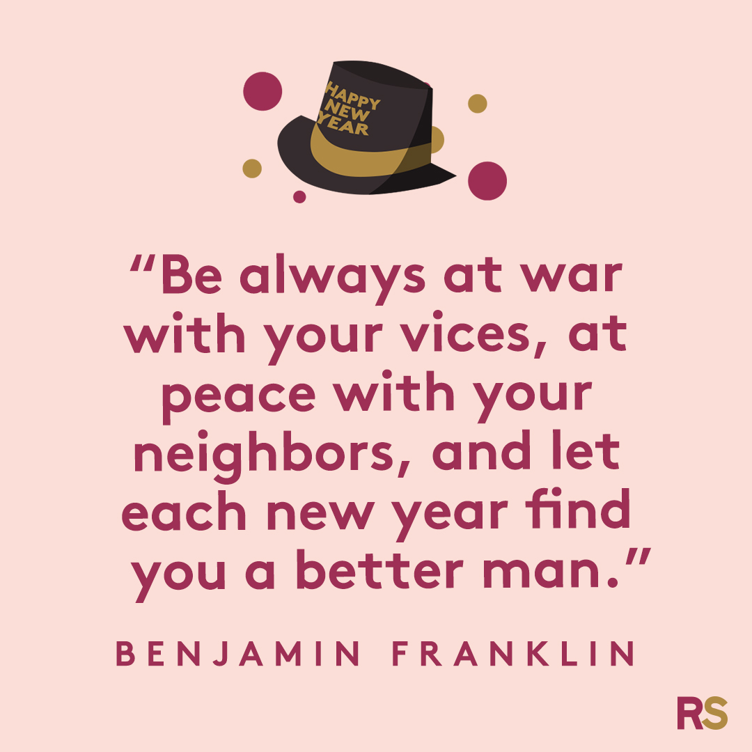 New Year's Quotes: 2020 inspirational, funny, happy New Year's Eve quotes - Benjamin Franklin