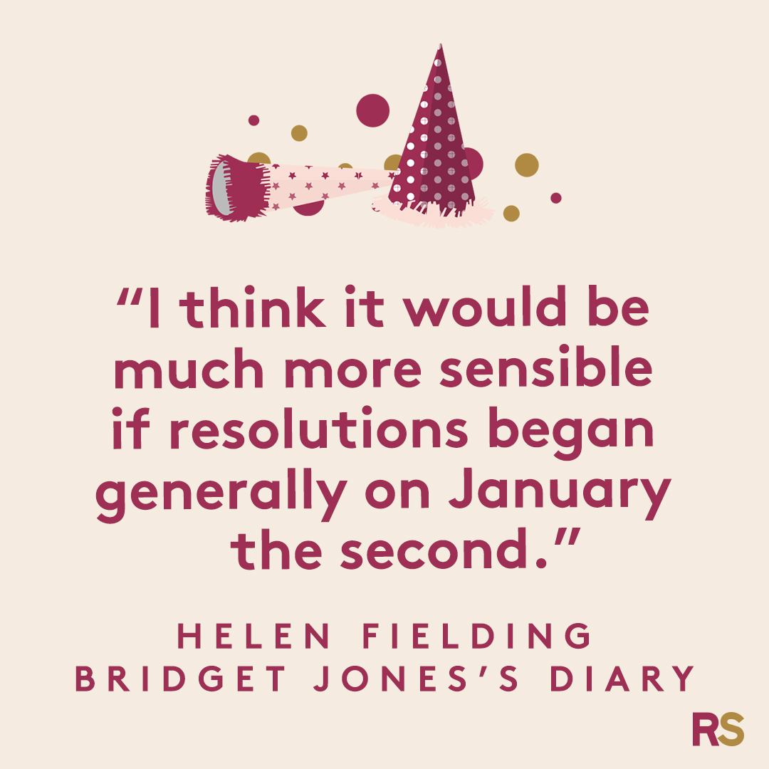 New Year's Quotes: 2020 inspirational, funny, happy New Year's Eve quotes - Helen Fielding, Bridget Jones's Diary
