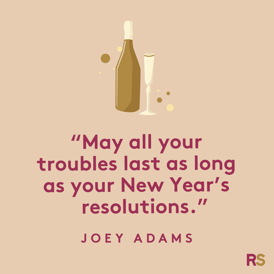 New Year's Quotes: 2020 inspirational, funny, happy New Year's Eve quotes - Joey Adams