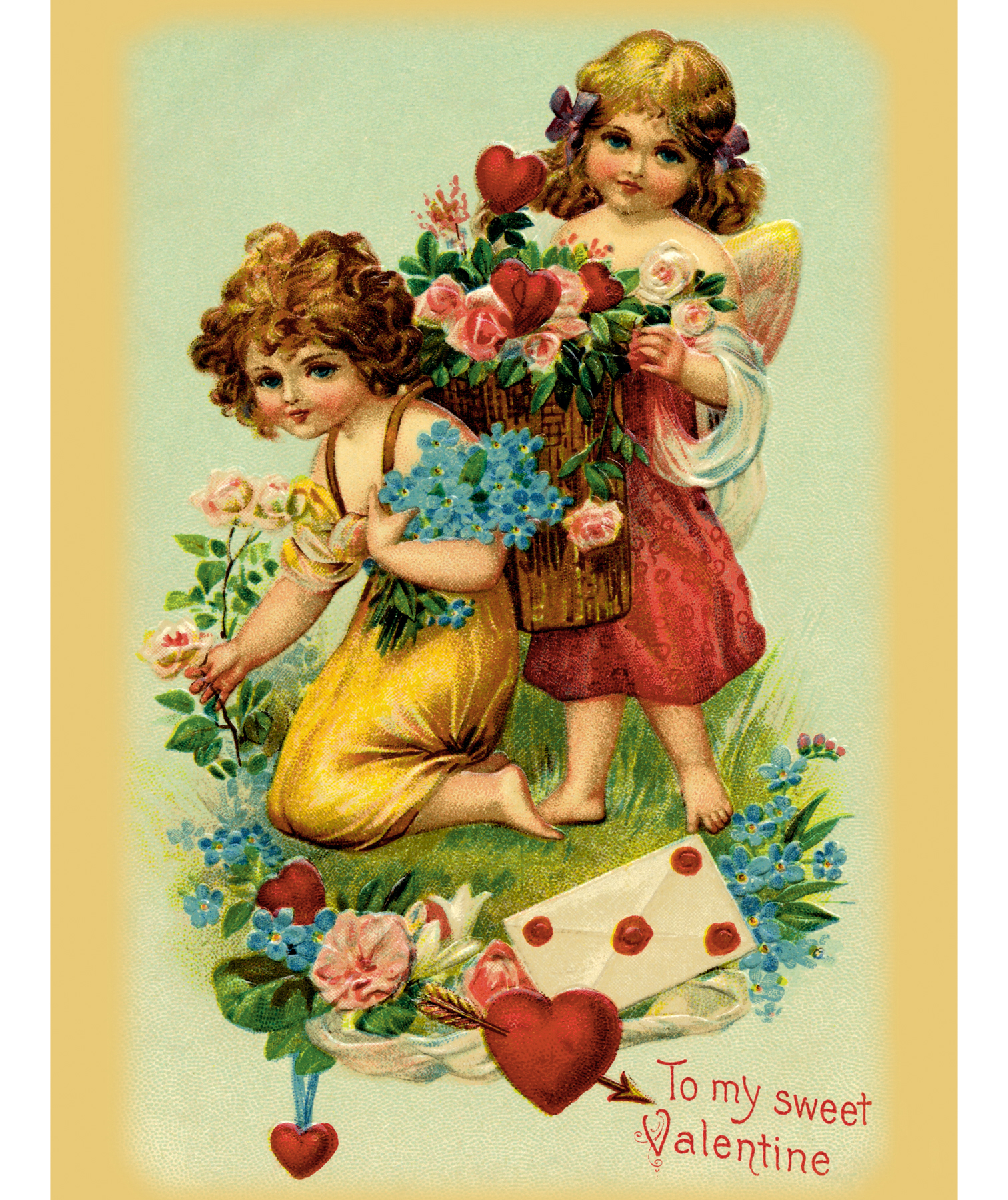 Valentine's Day history, origin, story, and more - Vintage Valentine's Day card