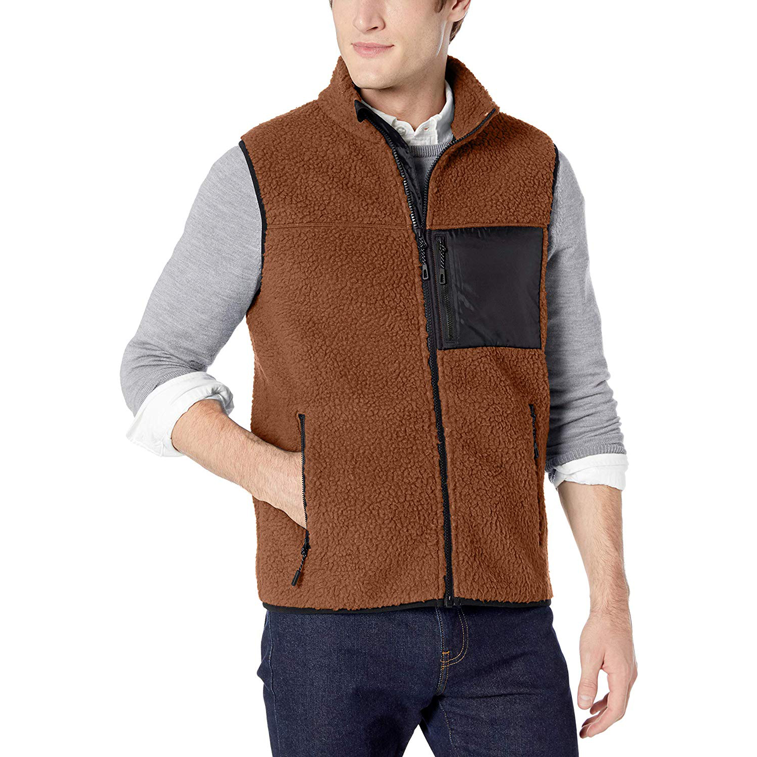 Amazon Goodthreads Men's Sherpa Fleece Vest