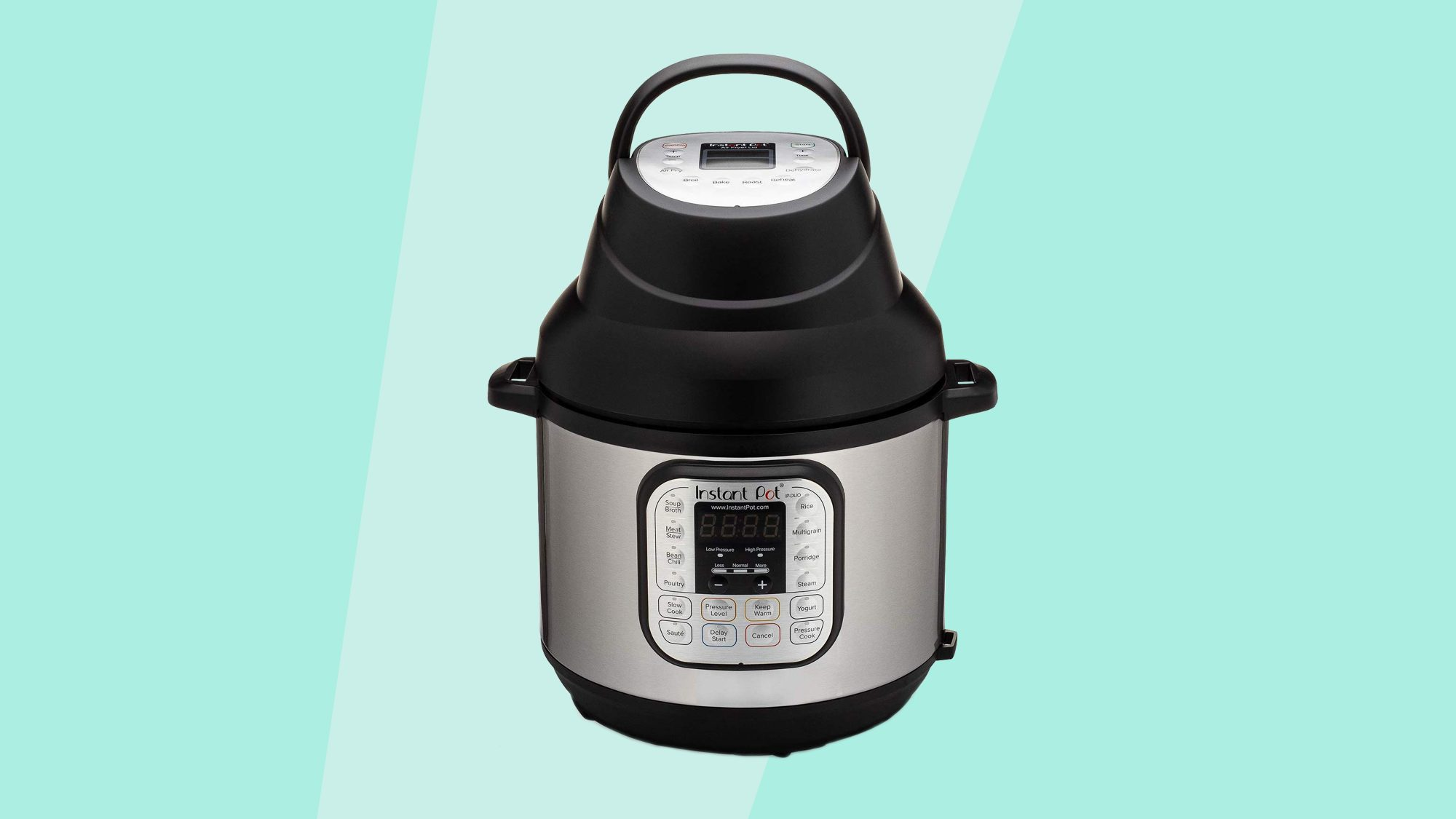 Instant Pot Lid with Roast Bake, Broil, Reheat & Dehydrate Air Fryer
