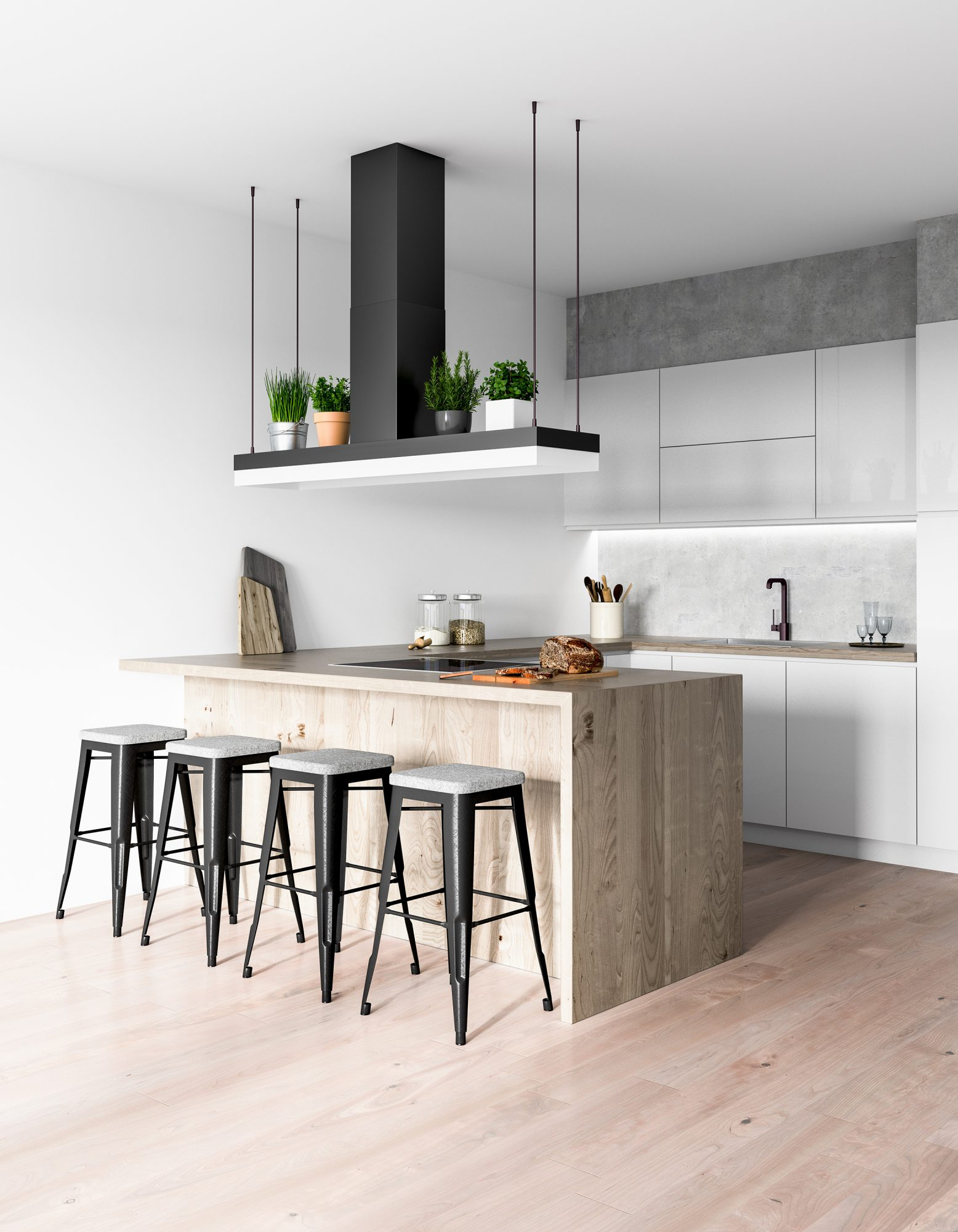 Kitchen Remodeling Trends, Contrasting Kitchen Island