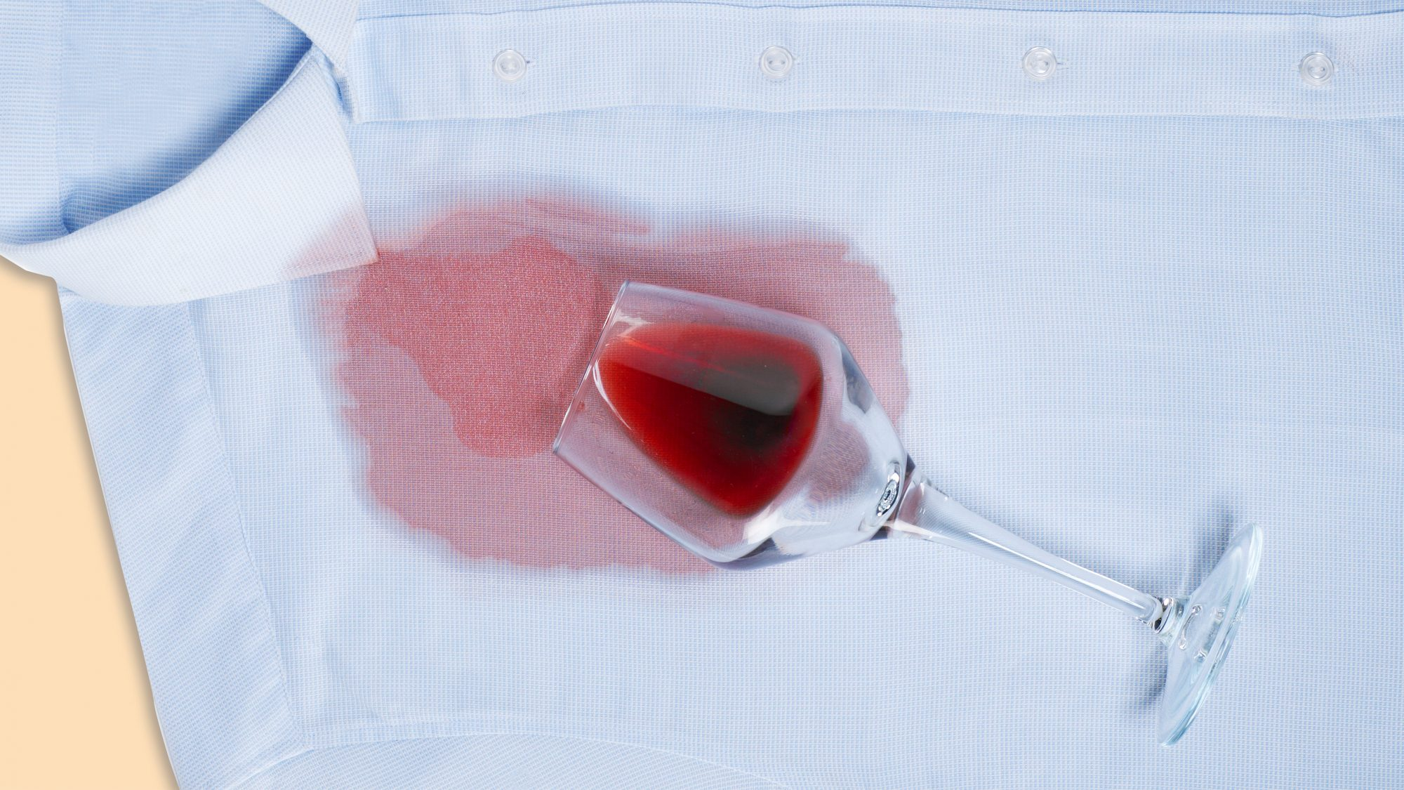 5 Stain Removal Laundry Mistakes You're Probably Making, spilled red wine