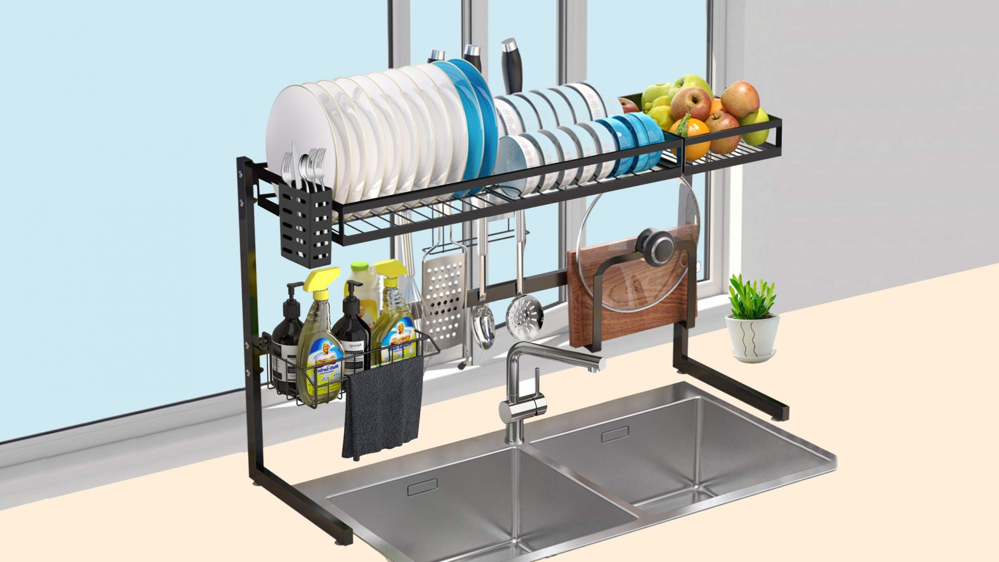 over-sink-dish-rack