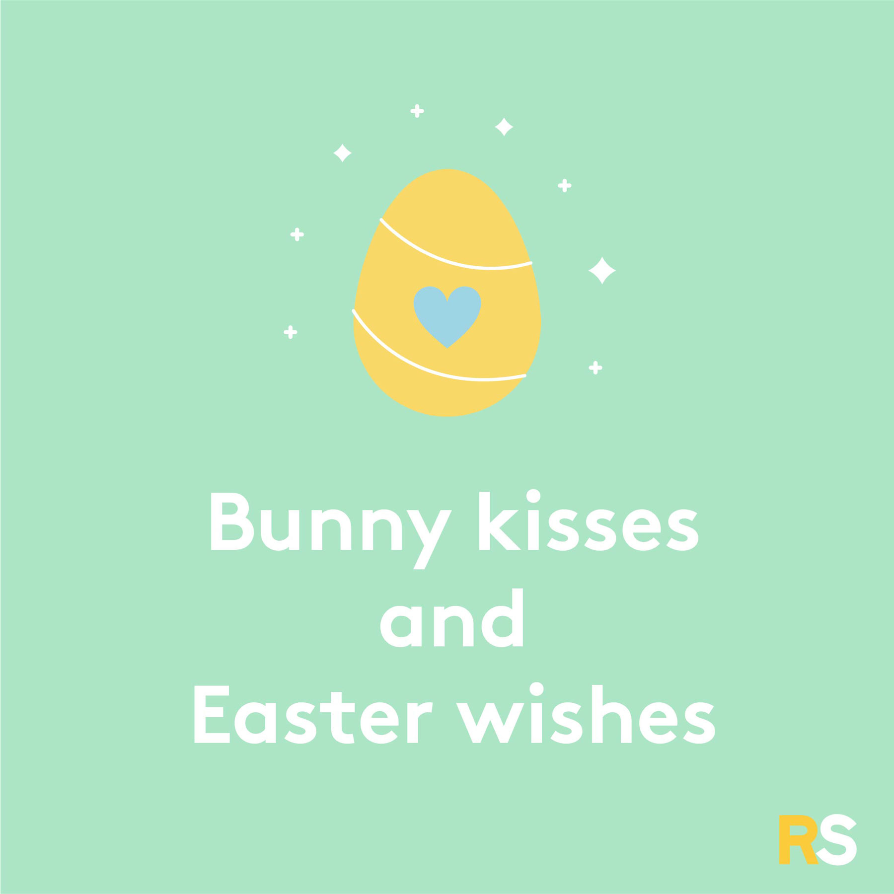 Easter quotes, captions, and messages - Bunny kisses and Easter wishes