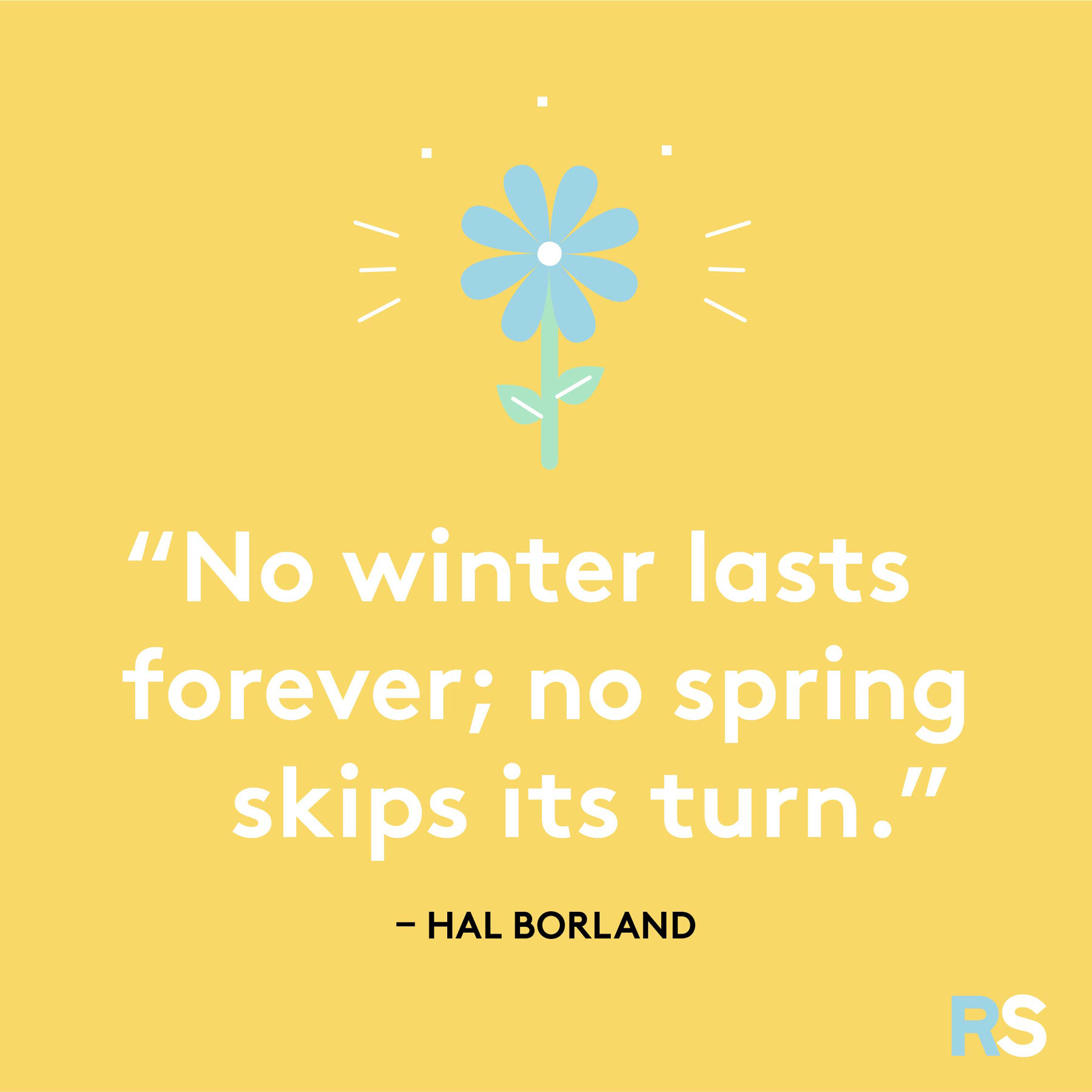 Easter quotes, captions, and messages - Hal Borland spring quote